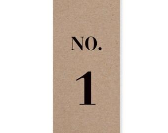 Eco Wedding Table Numbers,