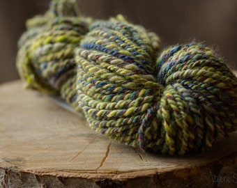 Purple Caterpillar Hand Dyed Alpaca Yarn Hand Spun