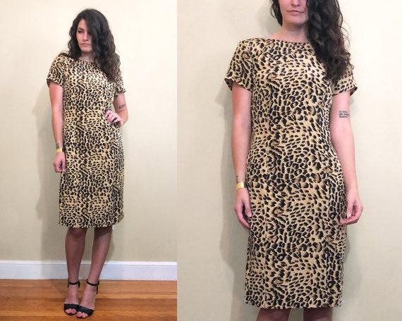Vintage EVR Size SP 1990s Cheetah Print Zipper Down 100/% Silk Jacket With Cheetah Tassles Long Sleeve With Pockets Silk Cheetah Print