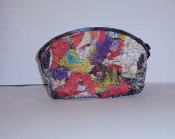 Patchwork clutch, cosmetic bag, pencil case, wallet,purse