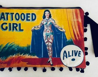 Vintage Reproduction Blockhead Circus Sign 8 X 12 Inches New Aluminum Freak Show