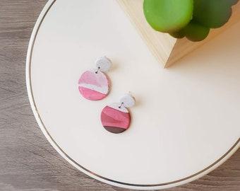 Dallas   Pink Desert Sunset Earrings