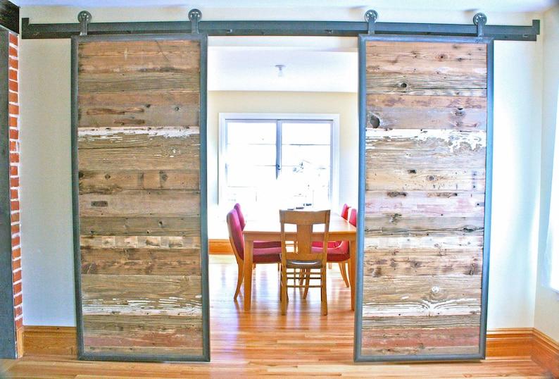 Bon Barn Doors In Reclaimed Wood   Tracks Included