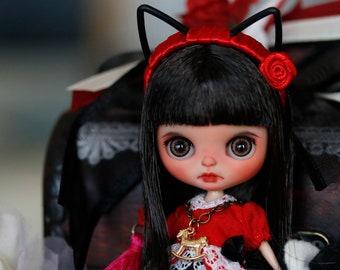 OOAK Special Custom Petite Blythe as * Night Flower *  AKA Miu Miu  By Freddy Creations / BLYTHEBOI