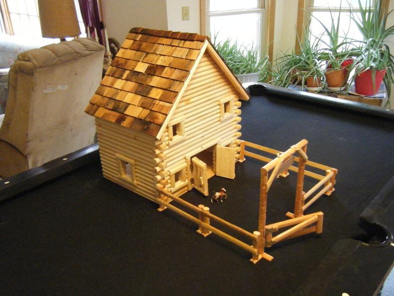 Log style horse barn