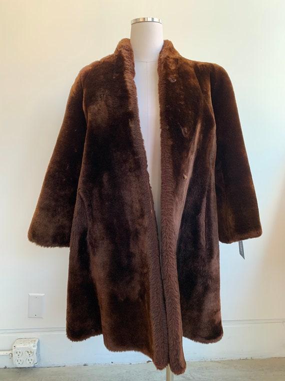 Brown mutton coat 23645