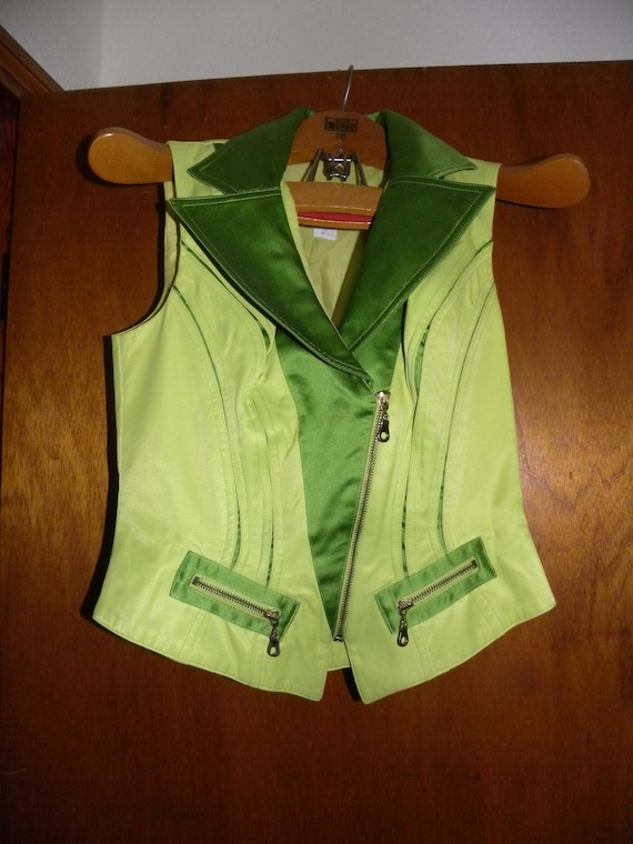 Neon Green '80s Pantsuit - Made in USA