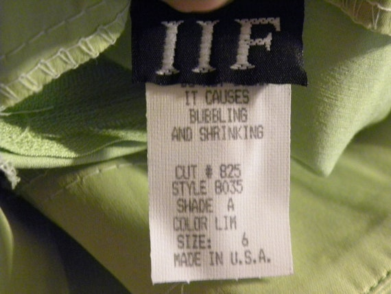 Neon Green '80s Pantsuit - Made in USA - image 7