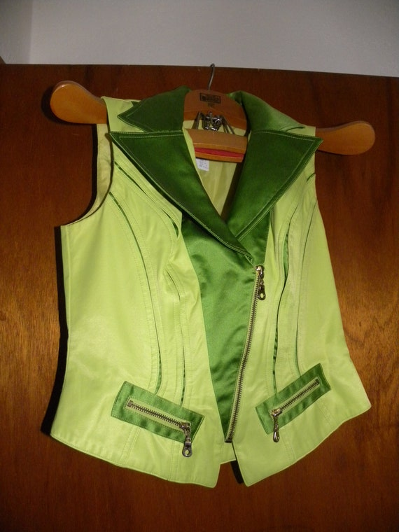 Neon Green '80s Pantsuit - Made in USA - image 8