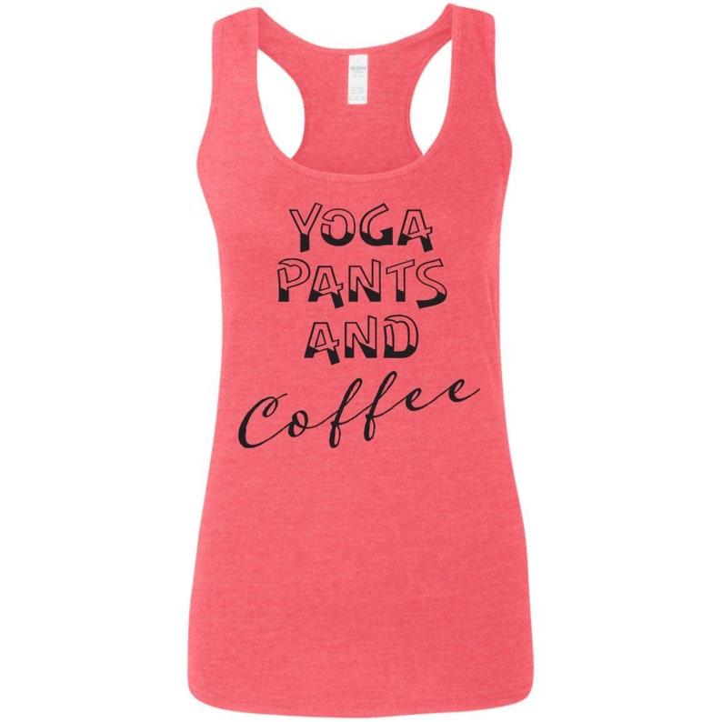 Yoga Pants and Coffee G645RL Ladies/' Softstyle Racerback Tank