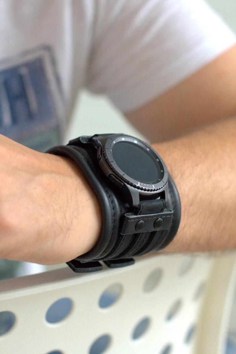 4745153460df Correa de cuero personalizada para reloj Samsung Gear S3
