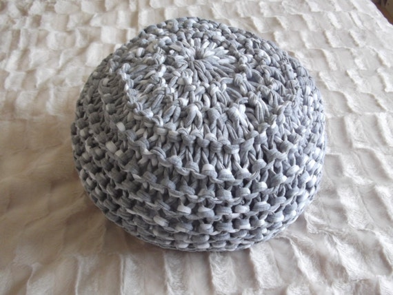 T Shirt Yarn Floor Cushion Pouf Knitting Pattern Etsy