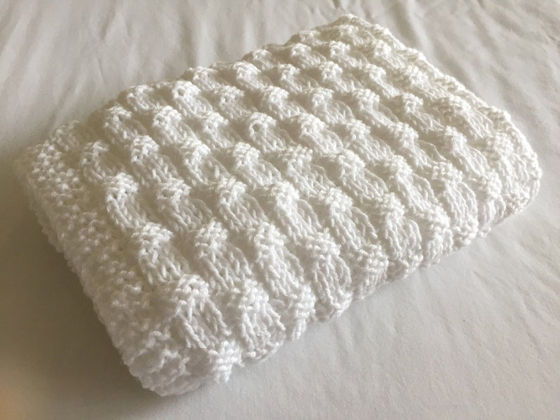 Quick and Easy Basket Weave Baby Blanket Knitting pattern ...