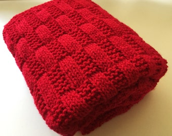 Rectangles Simple Baby Blanket  ~Knitting pattern