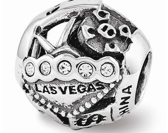 Sterling Silver Swarovski Las Vegas Collage Bead