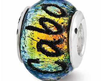 Sterling Silver Cabo Dichroic Glass Bead