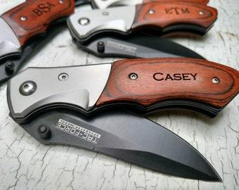 Personalized Pocket Knife, Engraved Pocket Knife Groomsmen, Groomsman Pocket Knife Gift, Handyman Pocket Knife, Usher Gifts, Custom Knife