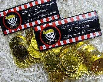 Pirate Birthday Party Goody Treat Bags - for Child Boy Birthday, First Birthday. Pirate-themed Party