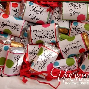 Thanksgiving Turkey Candy Bar Wrappers for Chocolate Miniatures-Thanksgiving-Friendsgiving-Party Favors-School-Class-Office-Teacher Gift