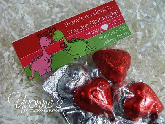 Valentine S Day Candy Goody Bags Dinosaur Dino Mite Etsy