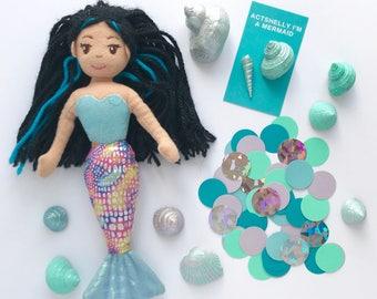 Mermaid Confetti,  Actshelly I'm A Mermaid, Under The Sea, Premium Card Stock, 100 Ct.