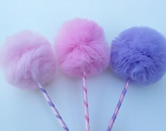 Pink and Purple Princess PREMIUM Tulle Party Favors, 3 pc Set