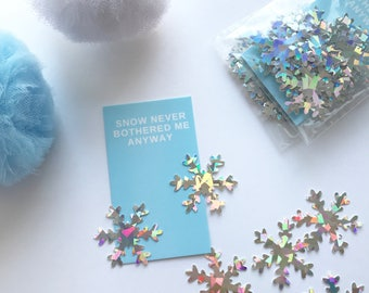 Snowflake Holographic Confetti, Frozen Party, Snow Never Bothered Me Anyway, Christmas Party, 100 Ct.