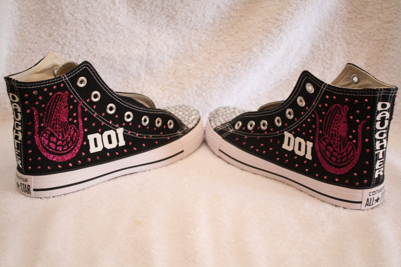 the latest 047ce 538f3 DOI PHA Daughters Converse Chuck Taylor rhinestone hi-top   Etsy
