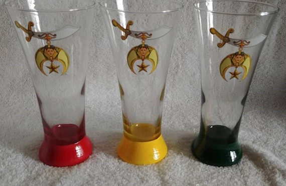 720435e6f4d Shriner pilsner glassware with Scimitar logo image for the
