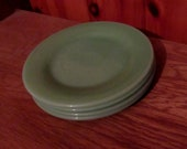 Fire King jadeite sandwich plates, 6-3 4 quot , 4 plates for 30.00
