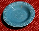 GENUINE FIESTA TURQUOISE flat soup bowl