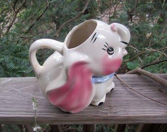 Dumbo elephant large pitcher hand painted marked dumbo