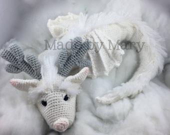 PDF Pattern: Winter Dragon **Crochet pattern only, not actual doll!** Crochet Dragon