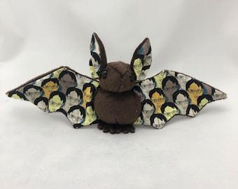 Brown Dwight Bat Plush, Stuffed Animal, Softie