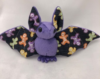 Glow-in-the-dark Skeleton Bat Purple Plush, Stuffed Animal, Softie