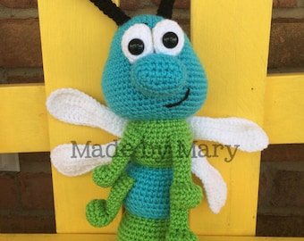 PDF PATTERN: Dragonfly Amigurumi *Crochet Pattern Only, Not Actual Doll*