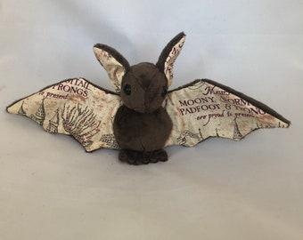 Marauders Map Bat Plush, Stuffed Animal, Softie
