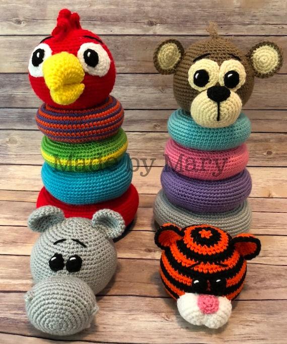 Crochet Pattern - INSTANT PDF DOWNLOAD - Zoo Animals - Crochet Zoo ... | 681x570