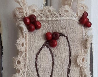 SALE Wall hanging fabric beaded home accessory decorative