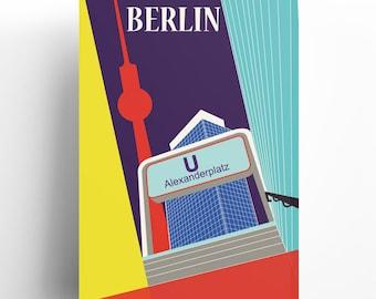 Vintage Travel Poster: Berlin Alexanderplatz