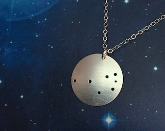 Pleiades Seven Sisters Constellation necklace sterling silver
