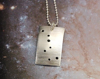 Big Dipper constellation necklace sterling silver