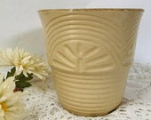 Flower pot ceramic crock antique vintage stoneware Roseville pottery Art Deco