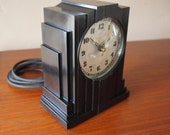 B. E. Lawrence Skyscraper Art Deco Bakelite Clock