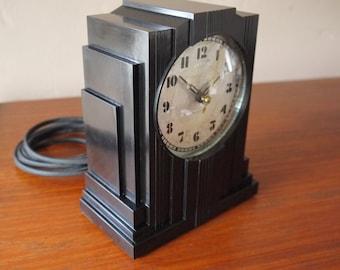 Art Deco Romantic Vintage Art Deco Design Telechron Cathedral And Telechron Clocks Antiques