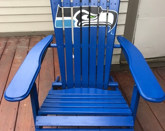 Charming Adirondack Chair   Custom Colors   Seahawks   Football   Sports Logo   Hand  Painted