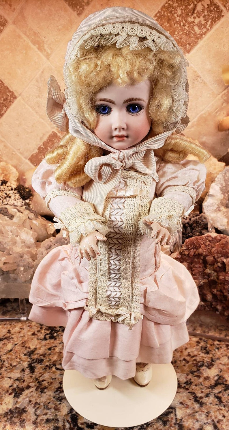 ce8101bfb SEE VIDEO: Vintage Antique Signed Artist Reproduction French Andre  Thuillier AT Bisque Head Bebe Doll