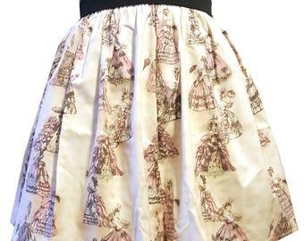 Cream Victorian Fashion Full Skirt