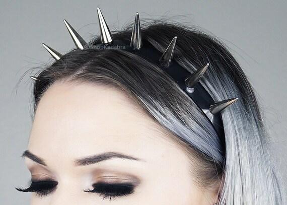 Spiked Headband | Silver Spiked Headband | Headband | Crown | Spiked Crown | Super Spike Crown | Kadabra by Etsy
