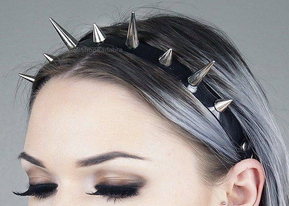 Spiked Headband | Silver Spiked Headband | Headdress | Spikes | Large Spiked Crown | Witchy | Goth | Metal | Kadabra Cult | Trinity Crown by Etsy